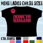 MADE IN ENGLAND LONDON UK  T-SHIRT ALL SIZES & COLOURS
